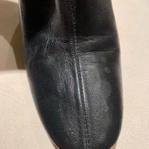 Zara Shoes - Black leather / stretch bootie
